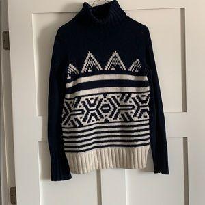 J. Crew fair isle turtleneck sweater